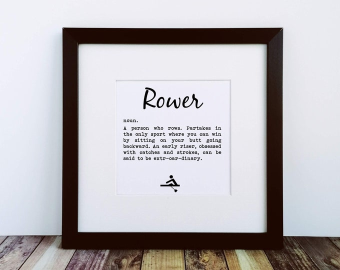 Large Print - Rower Definition - Gifts for Rowers