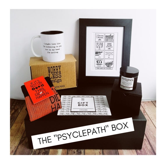 "Cycling Gift Set - The ""Psyclepath"" Box - Presents for Cyclists"