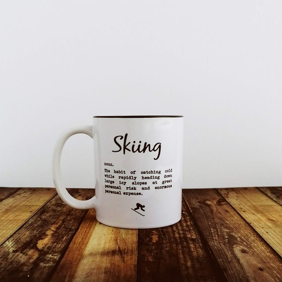 Ski-zophrenic. Ski Gift, Skiing Mug, Funny Skiing Gift. Skier Gift, Funny Skier Gift, Skier Mug. Skiing Gifts, Skiing Birthday. Ski Lover