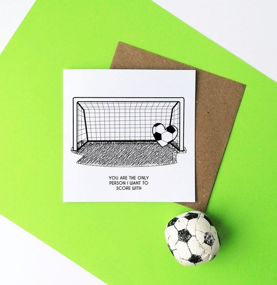 You are the only one... Football Card. Card for Footballer. Football Card, Card for Football Lover. Funny Soccer Card