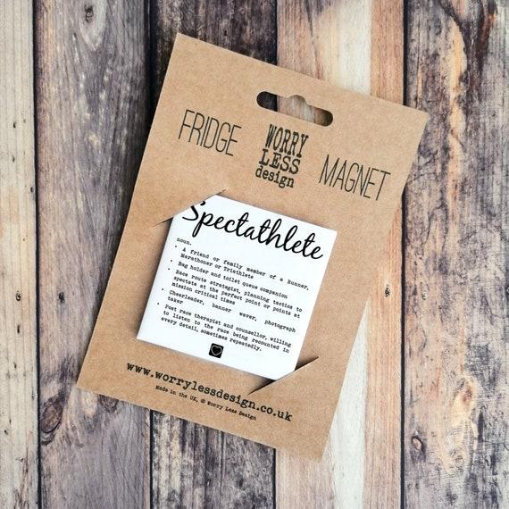 Spectathlete - Fridge Magnet, Funny Spectator Gift, Gift for Supporter, Thank you Gift, Runner Gift, Cycling Gift, Triathlon Gift.
