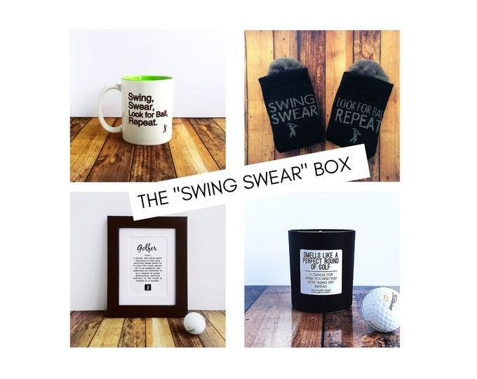 "Golf Gifts - Golf Gift Set - The ""Swing Swear"" Box."