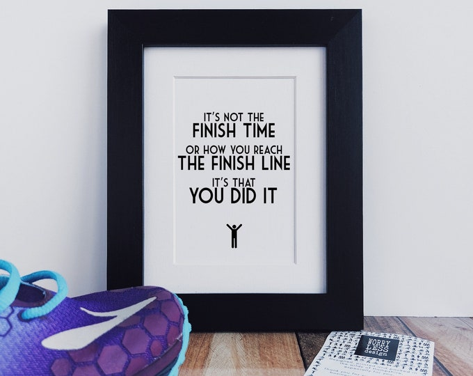 Running Gifts - It's not the Finish Time....