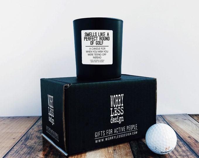 Golf Gifts - Scented Candle - Smells like a Perfect Round of Golf