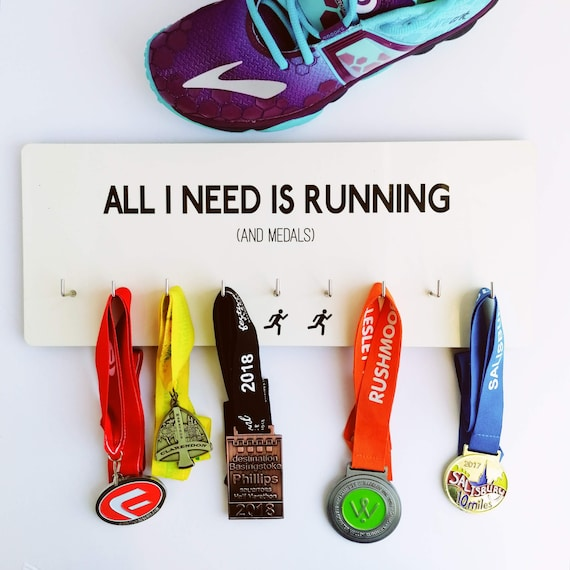 PRICE REDUCED. All I need is Running - Medal Hanger, Runner Medal Hanger, Medal Hanger Runner, Running Gift, Funny Running Gift