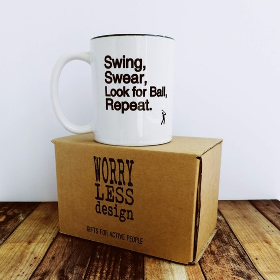 Golf Gifts - Swing Swear Mug. Gifts for Golfers, Golf Gifts for Men, Coffee Mug for Golfer, Golf Gifts for Dad, Gift for Golf Lover