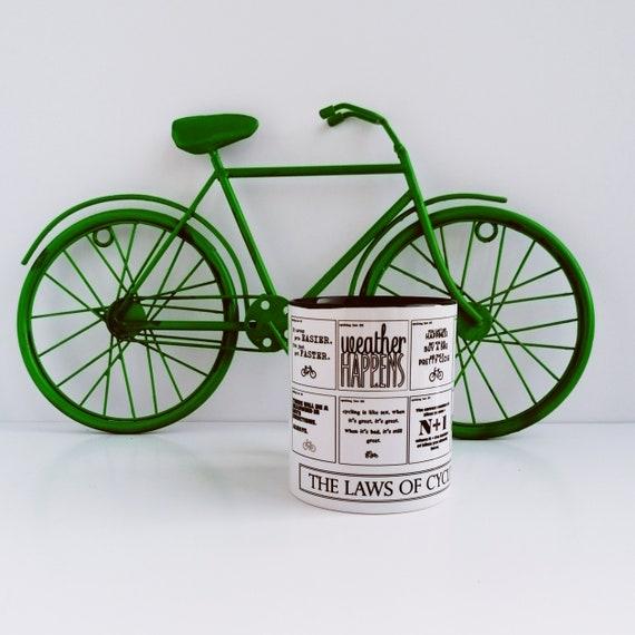 Cycling Gifts - Cycling Laws Mug - Bike Gifts, Cyclist Birthday, Mountain Bike Gift, Cycling Mug, Cycling Gifts for Men, Gift for Cyclist