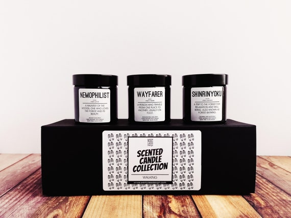 Walking Gift - Scented Candle Box Set - Walking Collection. Gifts for Hikers.