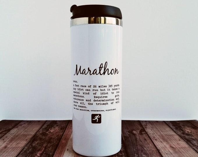 Travel Mug - Marathon Definition - Best Gifts for Marathon Runners