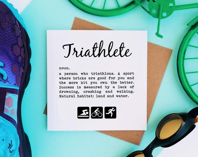 Greetings Card - Triathlete Definition - Triatholon Presents
