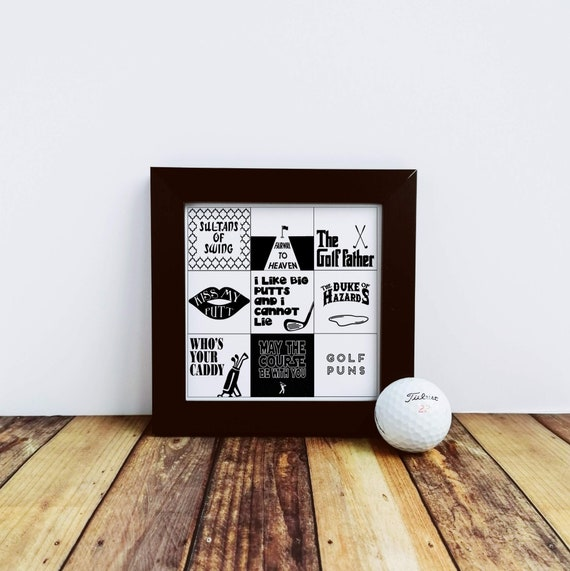 Golf Gift - Golf  Puns. Small Framed Print, Golfing Gift, Golfer Gift, Funny Golf Gift. Gift for Dad. Golf Dad, Gifts for Golfers Golf Lover