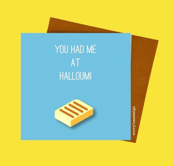 Cheese Cards - Various designs - Halloumi, Brie, Feta, Camembert. Cheese Lover Card, Funny Cheese, Foodie Card, Food Lover Card