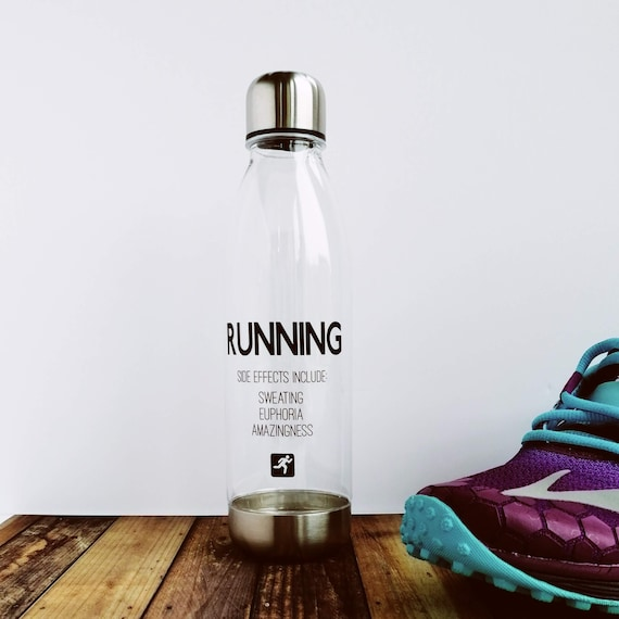 Running Side Effects - Running Water Bottle, Runners Water Bottle, Insulated Water Bottle, Running Gift, Funny Running Gift, Gift for Runner