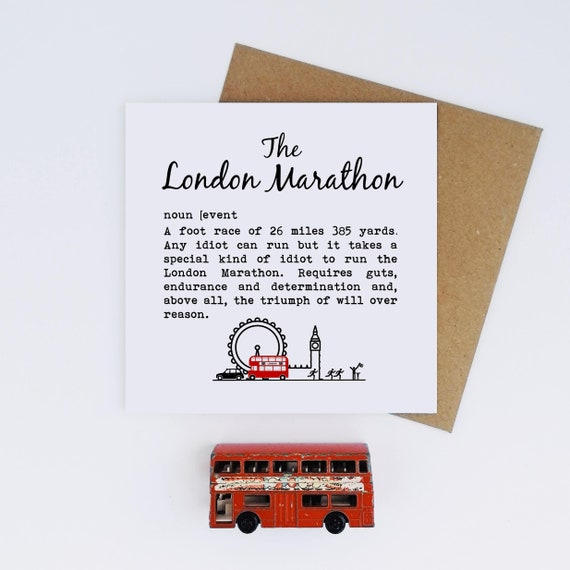 The London Marathon. Marathon Card, Marathon Runner Card, Card for Marathon, London Marathon Card, Marathon Good Luck Card, London 2020