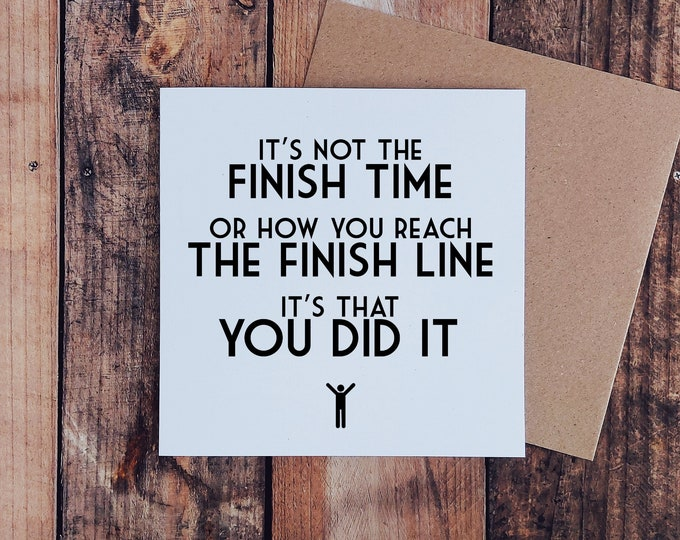 It's not the Finish Time - Marathon Card