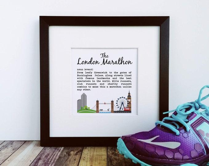 London Marathon Definition - Running Art Print