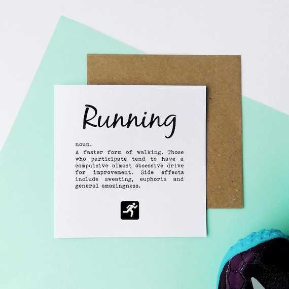Running Definition - Running Card, Runner Card, Card for Runner, Marathon Card, Half Marathon Card, Funny Running Card, Sporty Card