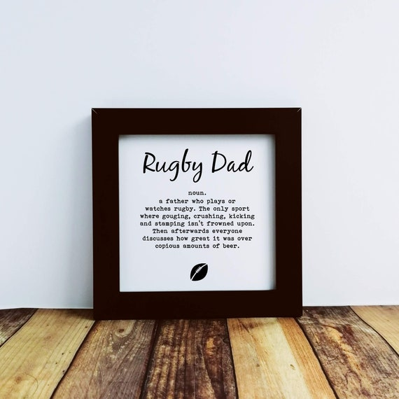 Father's Day Gift - Rugby Gifts - Rugby Dad, Funny Rugby Gift, Rugby Player Gift, Rugby Present, Gift for Rugby, Rugby Coach, Rugby Dad