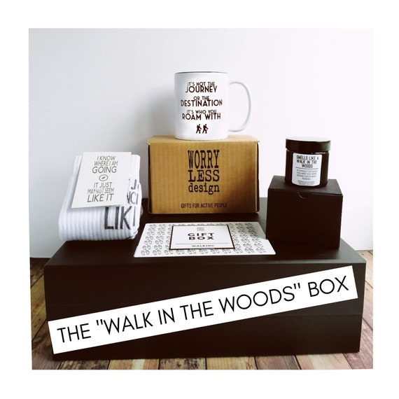 "Walking Gift Box - The ""Walk in the Woods"" Box - Presents for Walkers"