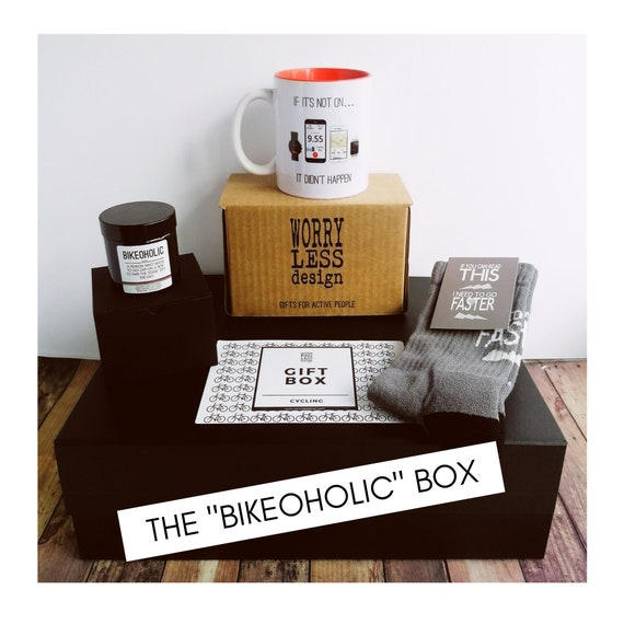 "Cycling Gift Set - The ""Bikeoholic"" Box - Gift Ideas for Cyclists"
