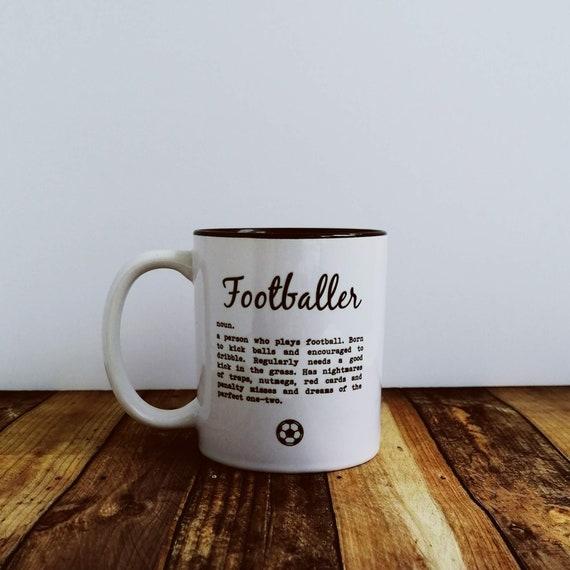 Football Gift - Footballer Definition - Funny Football Mug - Father's Day Mug - Soccer Gift