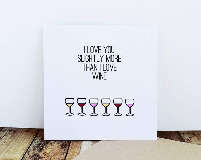 Greetings Card - Various designs - Gin Card, Wine Card. Gin Lover. Wine Lover.