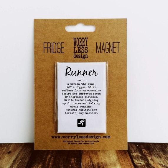 Runner Gifts - Runner - Fridge Magnet - Running Gift, Gifts for Runners.