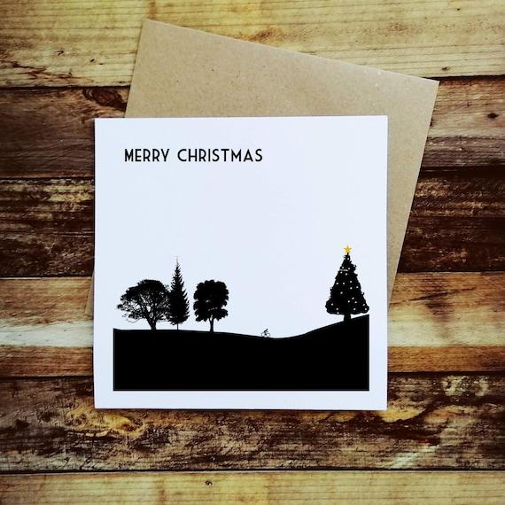 Cycling Christmas Card - Christmas Cyclist - Christmas Card for a Cyclist