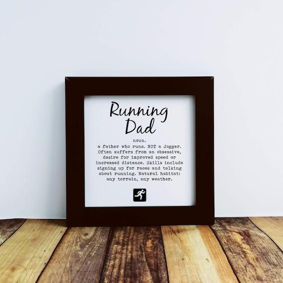 Running Gifts For Men - Running Dad. Runner Framed Print, Running Wall Art, Running Gift, Funny Running Gift, Gift for Runner