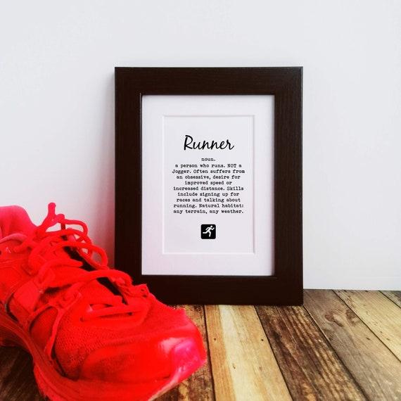 Running Gift - Runner Definition, Framed or Mounted Print, Funny Running Gift, Gift Runner, Runner Print, Running Wall Art, Letterbox Gift