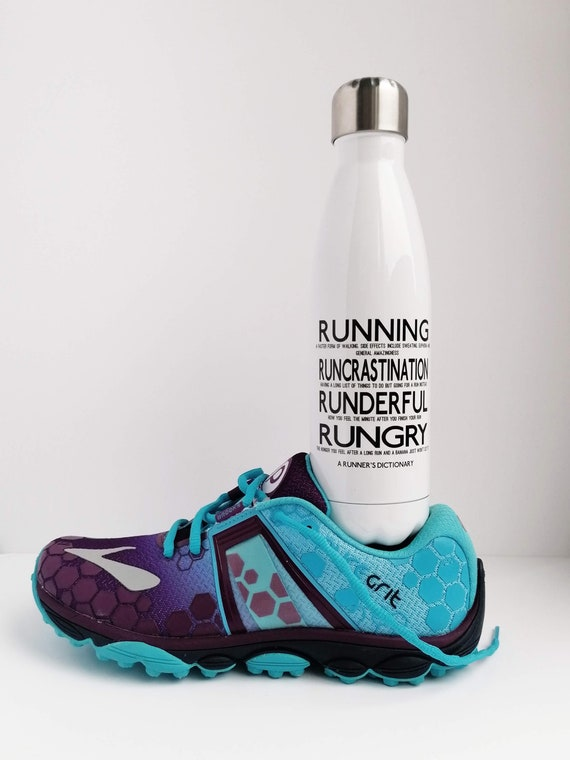 A Runner's Dictionary - Running Water Bottle, Runners Water Bottle, Insulated Water Bottle, Running Gift, Funny Running Gift