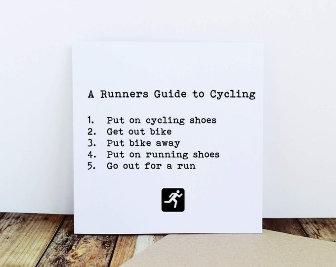Greetings Cards - A Runners Guide - Gift Ideas for Runners