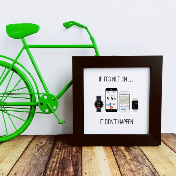 Cycling Gifts - If it's not on. Small Framed Print. Cyclist Birthday, Cycling Gifts for Men, Bike Print, Cycling Art, Cycling Prints
