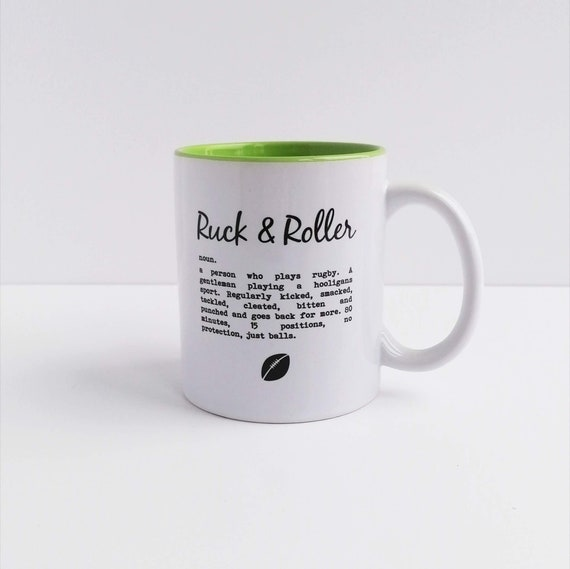Ruck and Roller. Rugby Gift, Rugby Mug, Gift for Rugby Player, Rugby Lovers. Rugby Gifts. Gift for Rugby Lover. Rugby Dad. Rugby Birthday