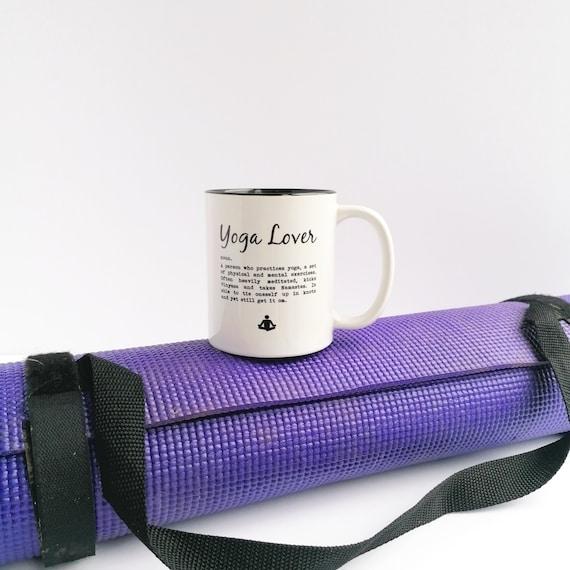 Yoga Gift - Yoga Mug. Yoga Lover Definition...... Gift for Yoga Lover, Yoga Addict Gift. Yoga Lover Gifts. Gift for Yogi. Yoga Coffee Mug.