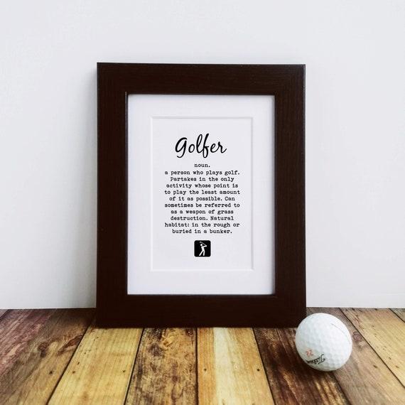Framed or Mounted Print - Golfer Definition - Golf Gifts for Men