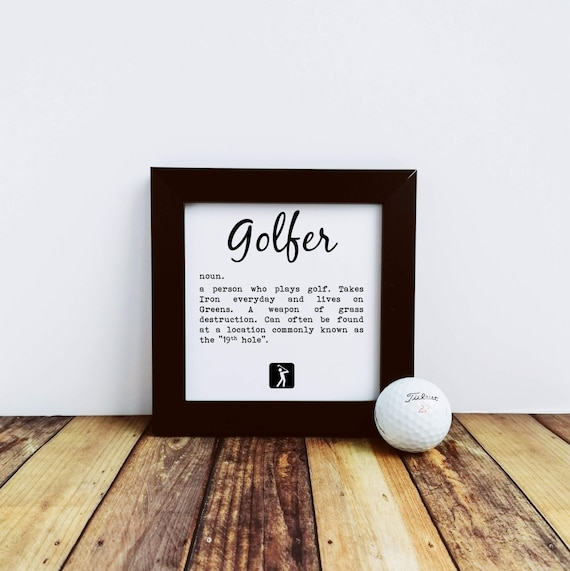 Golf Gift - Golfer definition, Small Framed Print, Golfing Gift, Golfer Gift, Funny Golf Gift. Gift for Dad, Gifts for Golfers, Golf Lover