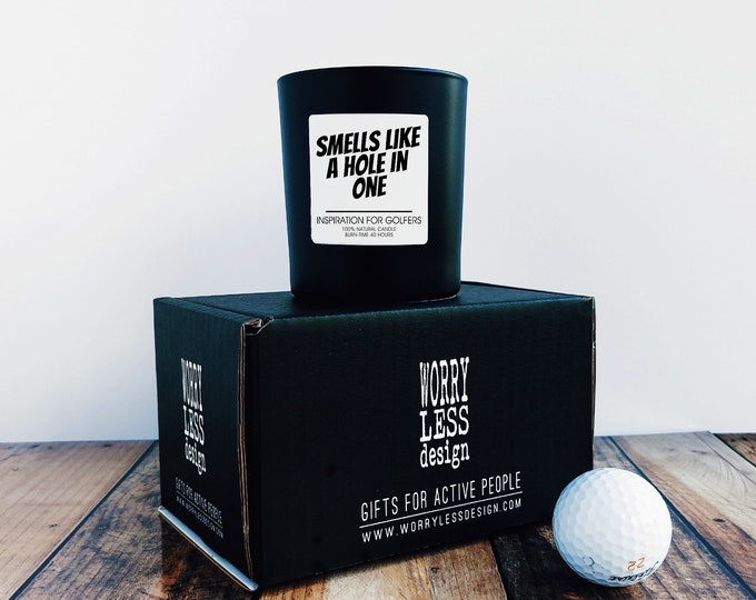 Golf Gifts - Scented Candle - Smells like a Hole in One - Golf Presents