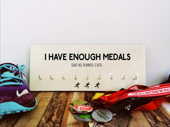 SALE! SLIGHT IMPERFECTIONS: I Have Enough Medals - Running Gift, Funny Running Gift, Gift for Runner, Medal Hanger, Runner Medal Hanger
