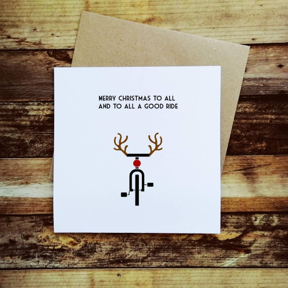 Cycling Christmas Card - To all a good ride - Christmas Card for a Cyclist