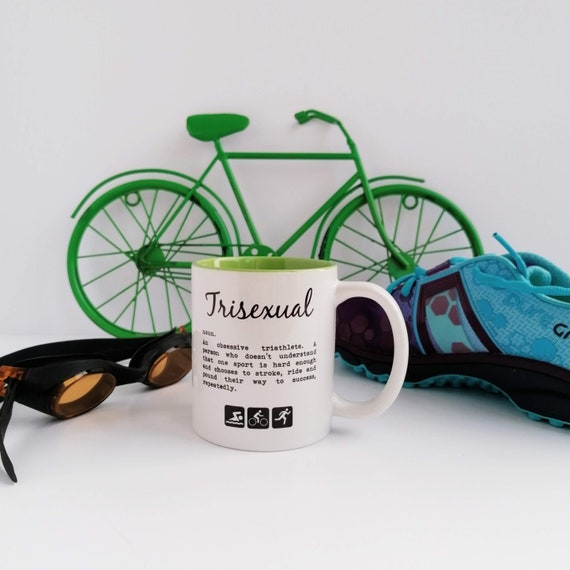 Trisexual Definition. Triathlon Mug, Triathlon Gift, Perfect Gift for Triathlete, Swim Bike Run. Tri Mug. Ironman Mug. Triathlete Gift