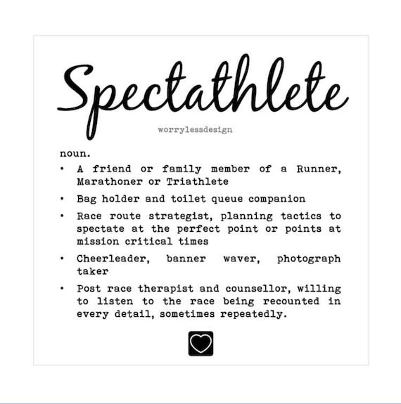 Spectator card spectathlete definition greetings card for etsy image 0 m4hsunfo