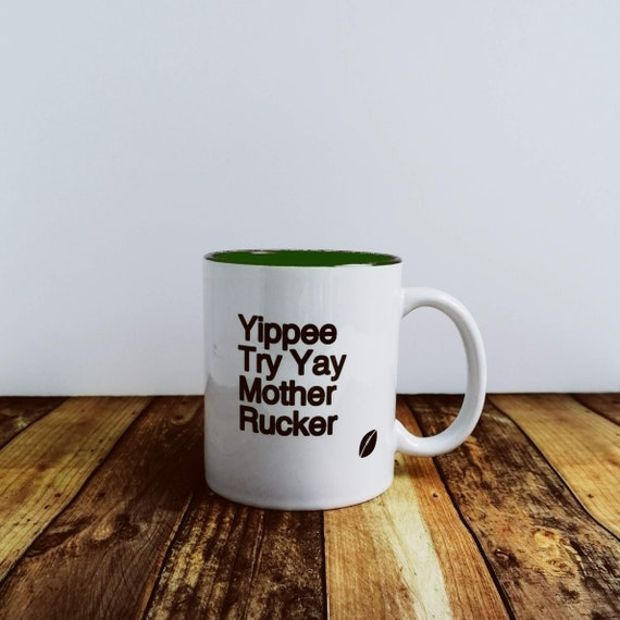 Rugby Gifts - Yippee Try Yay. Mug. Funny Rugby Gift, Gift for Rugby Fan. Rugby Gifts for Men. England Rugby Gifts, Rugby Coach Gift.