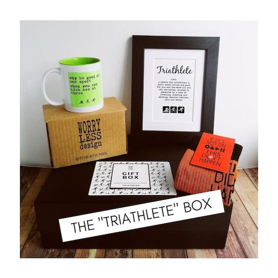 Gift Set - Triathlon or Ironman Gift Box - Gifts for Triathletes