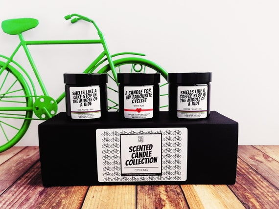 Cycling Gifts - Scented Candle Collection - A Coffee and a Cake Stop for your Favourite Cyclist
