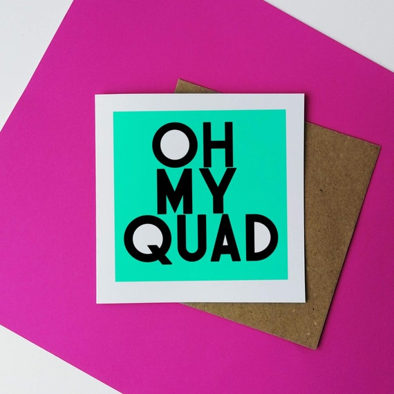 OH MY QUAD. Fitness Card. Funny Fitness Card, Funny Workout Card, Fitness Birthday, Fitness Motivation, Leg Day, Gym Birthday Card