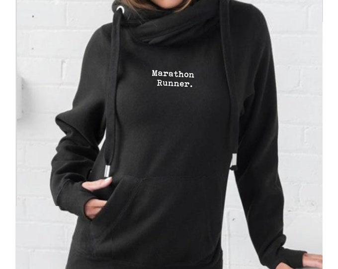 Marathon Runner - Running Hoodie - Marathon Gifts - Running Sweatshirt - Runner Gifts - Oversized Hoody