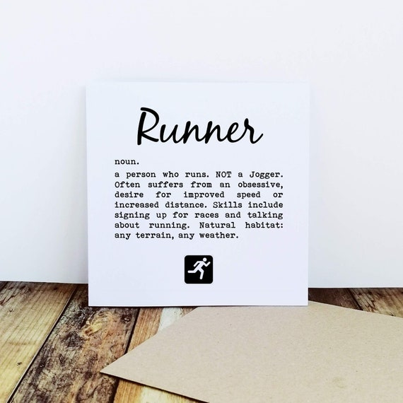 Runner Definition - Running Card, Runner Card, Card for a Runner, Marathon Card, Half Marathon Card, Funny Running Card, Sporty Card