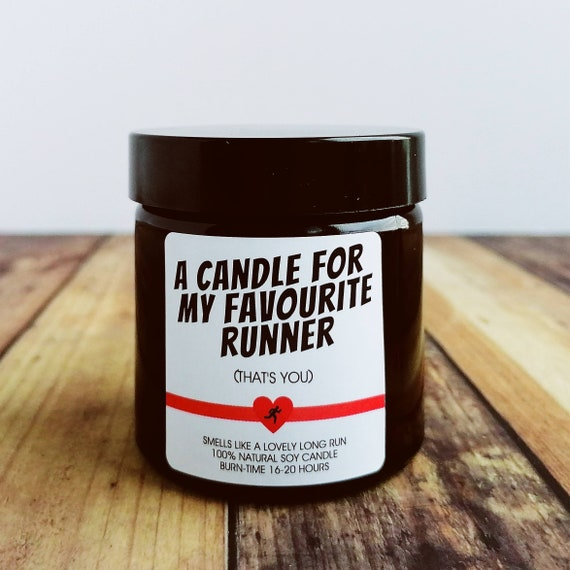 Scented Soy Candle - Choose from 5 Designs and Scents - Presents for Runners