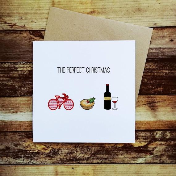 Cycling Christmas Card - The Perfect Christmas - Christmas Card for a Cyclist
